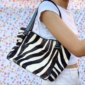 Zebra Hair Shoulder Bag 🦓